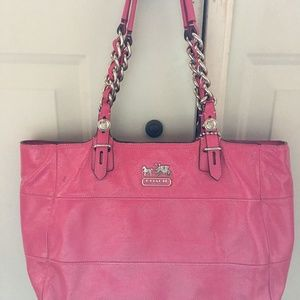 Pink Patten Leather Coach Handbag